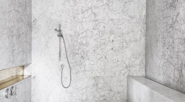 Renato D'Ettore Architects – Winner – TIDA Australia angle, architecture, bathroom, black and white, floor, interior design, plumbing fixture, room, tap, tile, wall, white