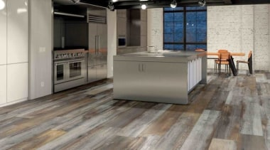 An Italian made tile that has all the floor, flooring, hardwood, kitchen, laminate flooring, tile, wood, wood flooring, gray