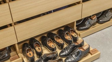 Wardrobe 2 - floor | flooring | footwear floor, flooring, footwear, furniture, shoe, table, wood, gray, orange