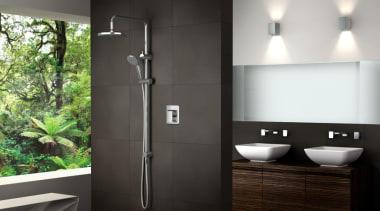 Warmup Image9 Tiled Shower angle, bathroom, plumbing fixture, black, gray