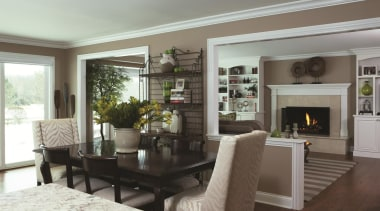 First Floor Remodel - Breakfast Area - dining dining room, home, interior design, living room, property, real estate, room, gray, white