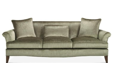 Vintage, antique, and modern pieces creatively express a angle, couch, furniture, loveseat, product design, sofa bed, white