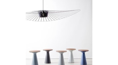 Star collection is named after the new area furniture, product design, table, white