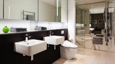 Archer + Wright – Finalist - 2015 Trends bathroom, interior design, plumbing fixture, product design, room, sink, gray