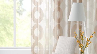 Horizon sheer drapery fabric - Horizon - chair chair, curtain, decor, floor, interior design, living room, product design, table, wall, wallpaper, window, window covering, window treatment, white