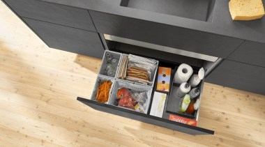 AMBIA-LINE inner dividing system – organization at its floor, flooring, furniture, product design, table, orange, gray