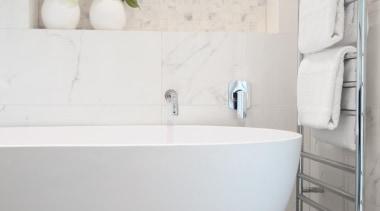 Lucerne Road - Lucerne Road - bathroom | bathroom, bathroom sink, bidet, ceramic, floor, flooring, interior design, plumbing fixture, product design, room, sink, tap, tile, toilet seat, wall, white