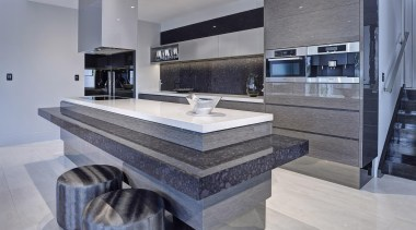Walls Bros Designer Kitchens & TMA Kitchen Design countertop, floor, flooring, interior design, kitchen, tile, gray