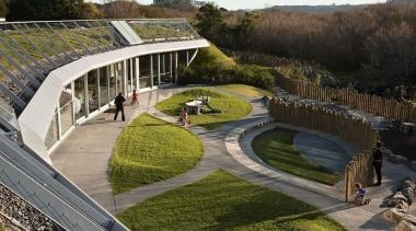 EXCELLENCE AWARDTe Mirumiru (2 of 4) - Resene architecture, grass, landscape, plant, structure, tree, brown, gray