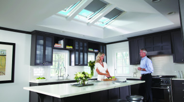 Shed some light on your interior design with countertop, interior design, kitchen, window, gray, black