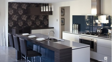 Kitchen design. - The Sentosa Display Home - countertop, interior design, kitchen, room, gray, black