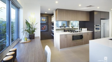 Kitchen design. - The Lexington Two Storey Display countertop, floor, interior design, kitchen, real estate, gray