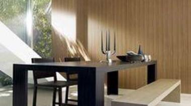 Table Laminex Designed Timber Veneer Como Rigato. Bench furniture, interior design, table, wood, brown