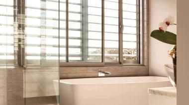 See the range here https://www.fairviewwindows.co.nz/windows/ bathroom, floor, flooring, interior design, plumbing fixture, room, tile, window, window covering, wood flooring, brown, white
