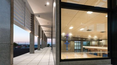 EXCELLENCE AWARDPaul Keane Gymnasium St Marys College Auckland architecture, daylighting, facade, glass, interior design, lobby, real estate, window, gray