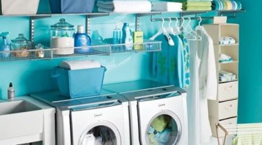 Utilitarian spaces such as laundry rooms and mudrooms clothes dryer, home appliance, laundry, laundry room, major appliance, product, product design, room, white, teal