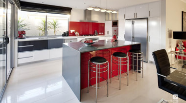 Kitchen design. - The Essence Display Home - cabinetry, countertop, cuisine classique, interior design, kitchen, room, gray