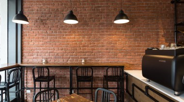 Muros: 'Bringing walls to life' - Concrete | brick, brickwork, ceiling, countertop, floor, flooring, hardwood, interior design, room, wall, wood, wood flooring, brown, black