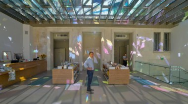 The Vincent Van Gogh Foundation is the result ceiling, daylighting, lobby, gray