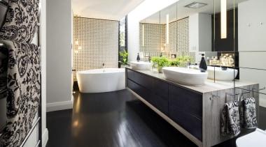 Winner –Jason Saunders, Arc Seven.1 - 2016 TIDA bathroom, countertop, floor, flooring, interior design, kitchen, room, white, black