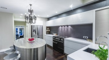 Sleek Kitchen - Sleek Kitchen - ceiling | ceiling, countertop, interior design, kitchen, real estate, gray, white