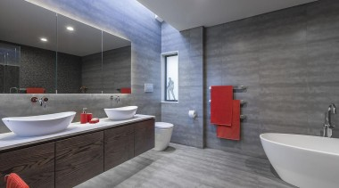 Entrant: Kira Gray – 2015 NKBA Design Awards architecture, bathroom, floor, flooring, interior design, real estate, room, tile, wall, gray