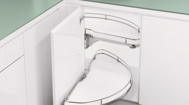 Vauth-Sagel Cornerstone Unit: Opening Motion Sequence 1 of angle, bathroom accessory, bathroom cabinet, bathroom sink, drawer, furniture, plumbing fixture, product, product design, sink, table, tap, toilet seat, white
