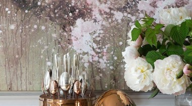 Fine French Cutlery - Cristofle Mood Precious Collection blossom, centrepiece, floral design, floristry, flower, flower arranging, spring, still life, still life photography, vase, gray
