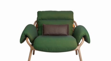 Stephen Burks and Roche Bobois collaborated on creating chair, furniture, green, product, white