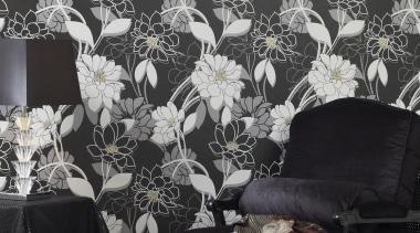 Statements Range - Statements Range - black | black, black and white, decor, flora, interior design, wallpaper, black