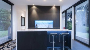 Kitchen design by Yellowfox - Kitchen - architecture architecture, glass, house, interior design, property, real estate, wall, window, gray, black