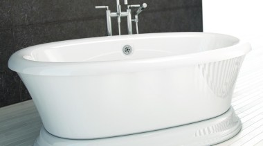 The Naos of the Balneo collection, offered in bathroom sink, bathtub, ceramic, plumbing fixture, product, product design, tap, white, black