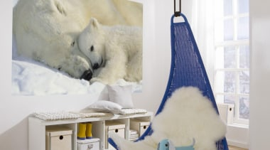 Polar Bears Interieur - Italian Color Range - bear, bed, interior design, polar bear, room, white