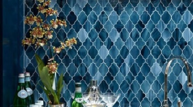 Cerulean blue backsplash - Cerulean blue - backsplash blue, glass, interior design, wall, blue, teal