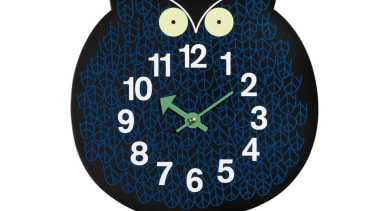 From the Zoo Timers collection designed by George clock, font, home accessories, owl, product, white