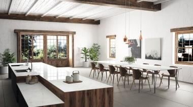 Kitchen Worktop Tundra Dekton XGloss Natural (HR) furniture, interior design, table, white