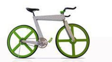 Made of ColorCore - Formica Bicycle - bicycle bicycle, bicycle accessory, bicycle frame, bicycle part, bicycle saddle, bicycle wheel, green, hybrid bicycle, line, mode of transport, product, product design, road bicycle, sports equipment, vehicle, wheel, yellow, white