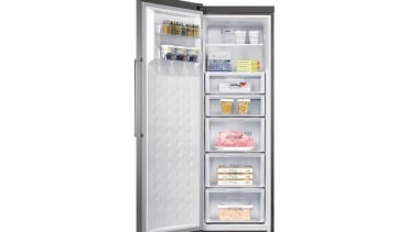 Freezer- One Door SFP318RSThis new one door freezer home appliance, kitchen appliance, major appliance, product, refrigerator, white