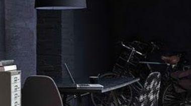 Black on Black - Black Interior - chair chair, floor, furniture, interior design, lamp, light fixture, lighting, product design, table, wall, black