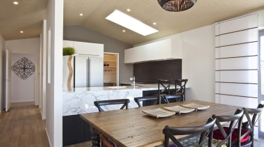 For more information, please visit www.gjgardner.co.nz ceiling, dining room, interior design, real estate, table, gray
