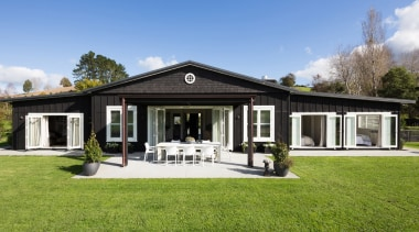 Landmark Homes Design & Build - Landmark Homes cottage, elevation, estate, facade, farmhouse, home, house, property, real estate, villa, teal, green