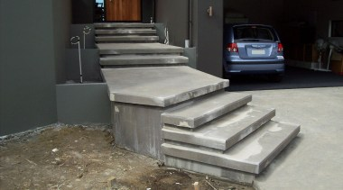 Cemcote Stairs Before - Cemcote Stairs Before - automotive exterior, floor, flooring, stairs, black, gray