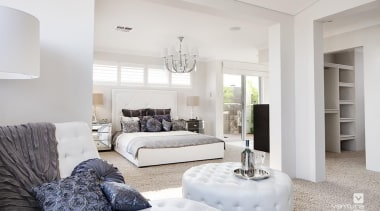 Master ensuite design. - The Temptation Display Home ceiling, floor, home, interior design, living room, property, real estate, room, white