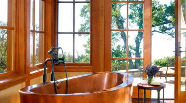 Custom Copper Bath - Custom Copper Bath - interior design, living room, real estate, room, window, wood, brown
