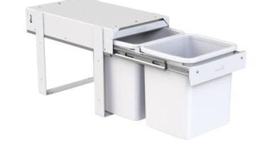 Model KK4F - 2 x 15 litre buckets.Floor product, product design, white
