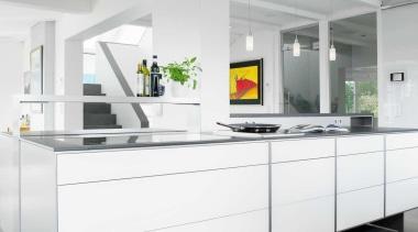 Modern Black and White KitchenFor more information, please countertop, floor, furniture, interior design, kitchen, white, gray
