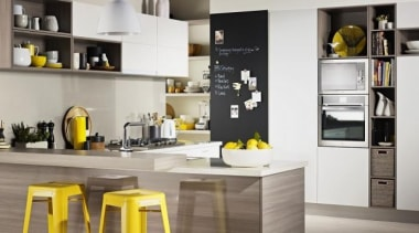 Get creative in the kitchen with Formica Matt countertop, cuisine classique, furniture, interior design, kitchen, product design, room, white