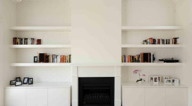 dsc 0073 2.jpg - dsc_0073_2.jpg - bookcase | bookcase, floor, furniture, hearth, interior design, living room, shelf, shelving, gray