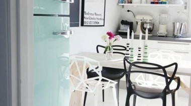 A touch of mint in a black and furniture, interior design, product design, table, gray, white