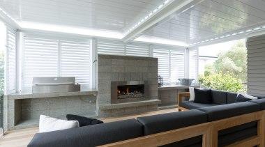 Outdoor - fireplace | interior design | living fireplace, interior design, living room, window, white, gray